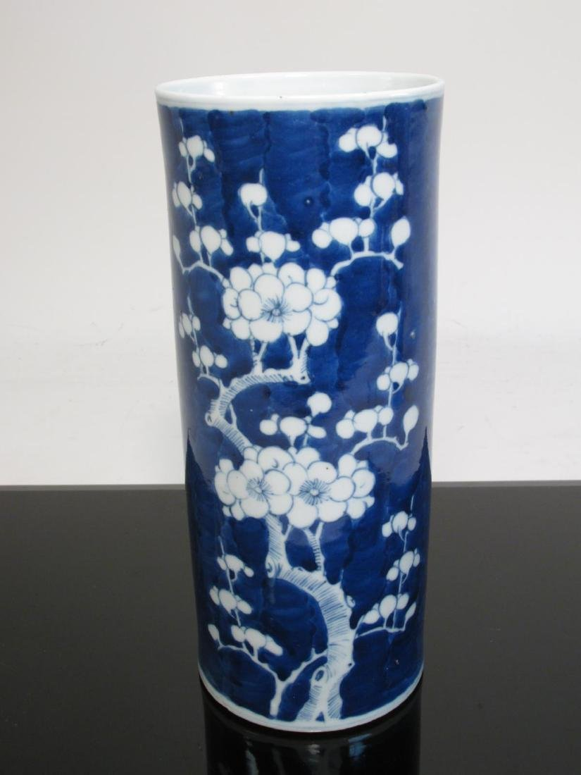 TWO CHINESE QING DYNASTY PORCELAIN PRUNUS VASES - 8