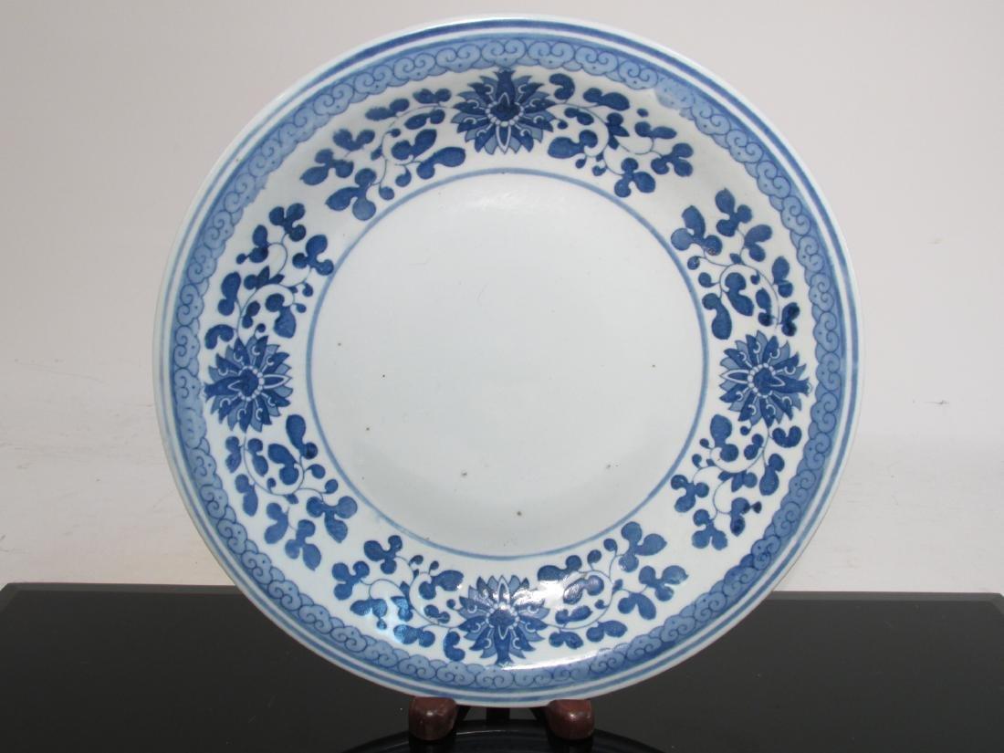CHINESE BLUE & WHITE PORCELAIN PLANTER & LAMP - 6