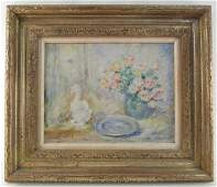 LUCIEN BOULIER OIL ON CANVAS PAINTING STILL LIFE
