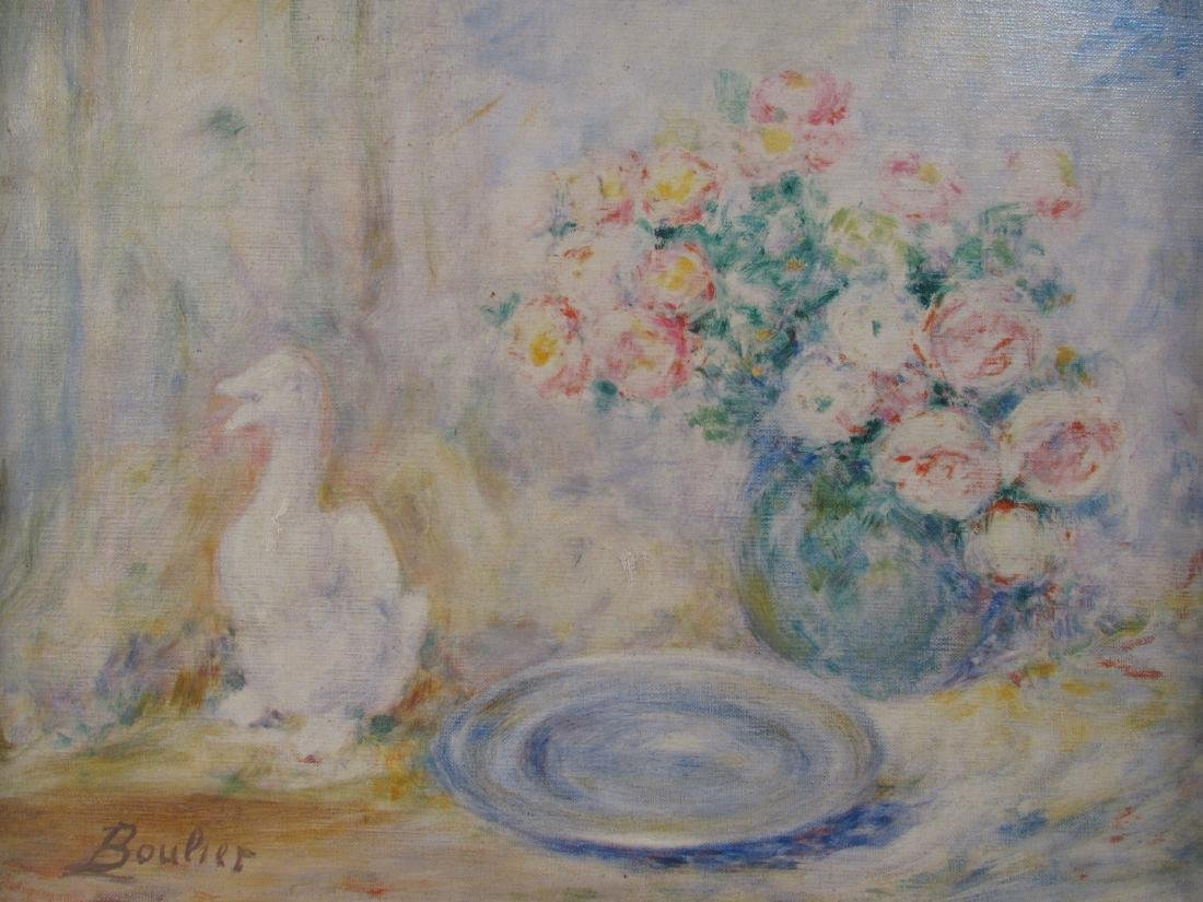 LUCIEN BOULIER OIL ON CANVAS PAINTING: STILL LIFE - 2