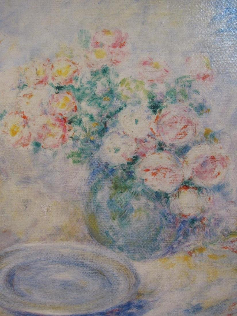 LUCIEN BOULIER OIL ON CANVAS PAINTING: STILL LIFE - 4