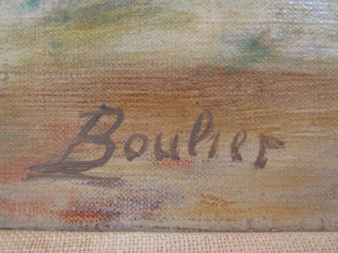LUCIEN BOULIER OIL ON CANVAS PAINTING: STILL LIFE - 5