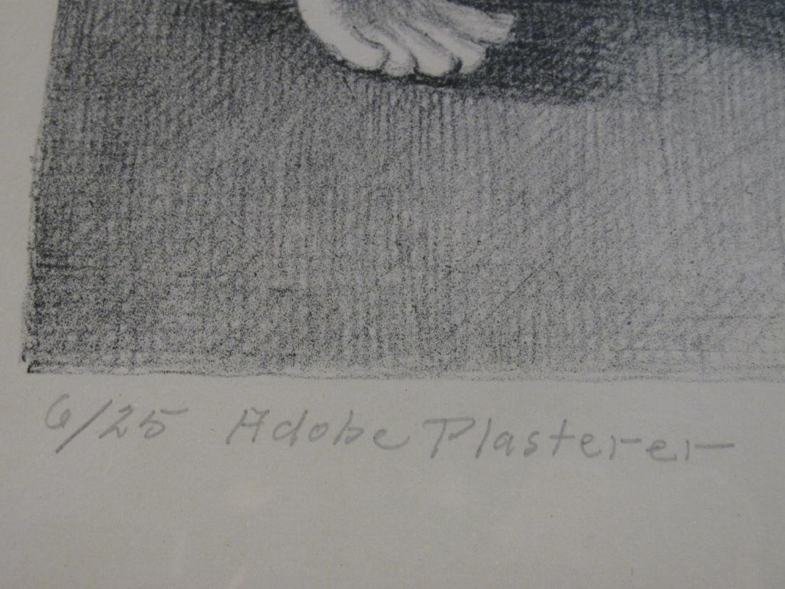 KENNETH M. ADAMS SIGNED LITHOGRAPH: ADOBE PLASTERE - 4