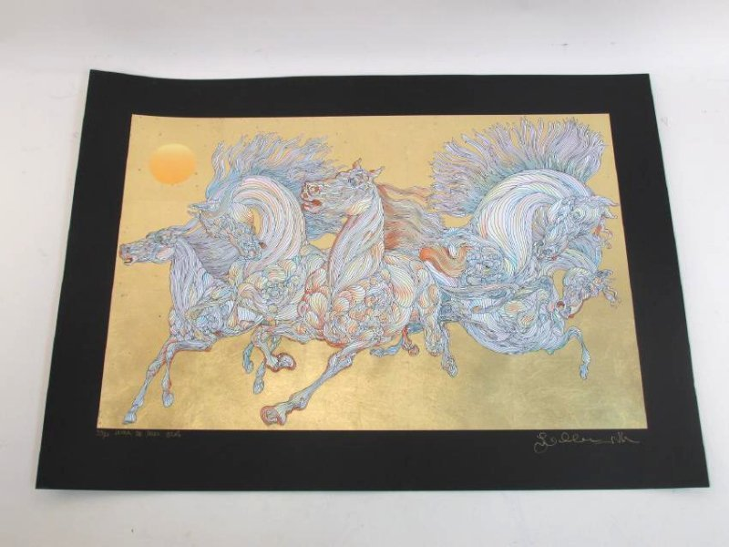 GUILLAUME AZOULAY LIMITED ED. GOLD LEAF SILKSCREEN