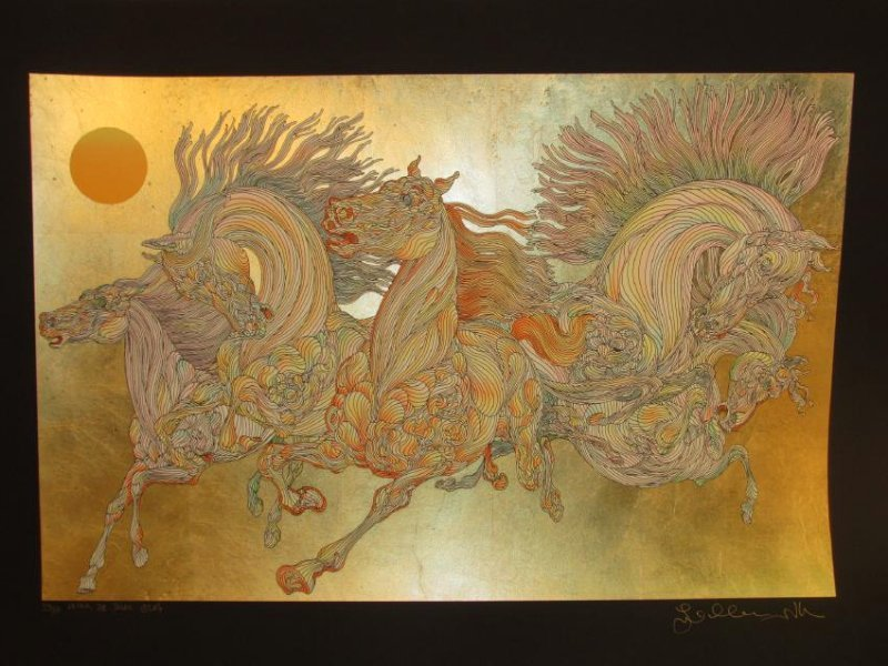 GUILLAUME AZOULAY LIMITED ED. GOLD LEAF SILKSCREEN - 2