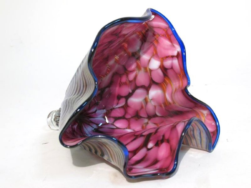 CHIHULY STYLE FREEFORM ART GLASS SCULPTURE - 3