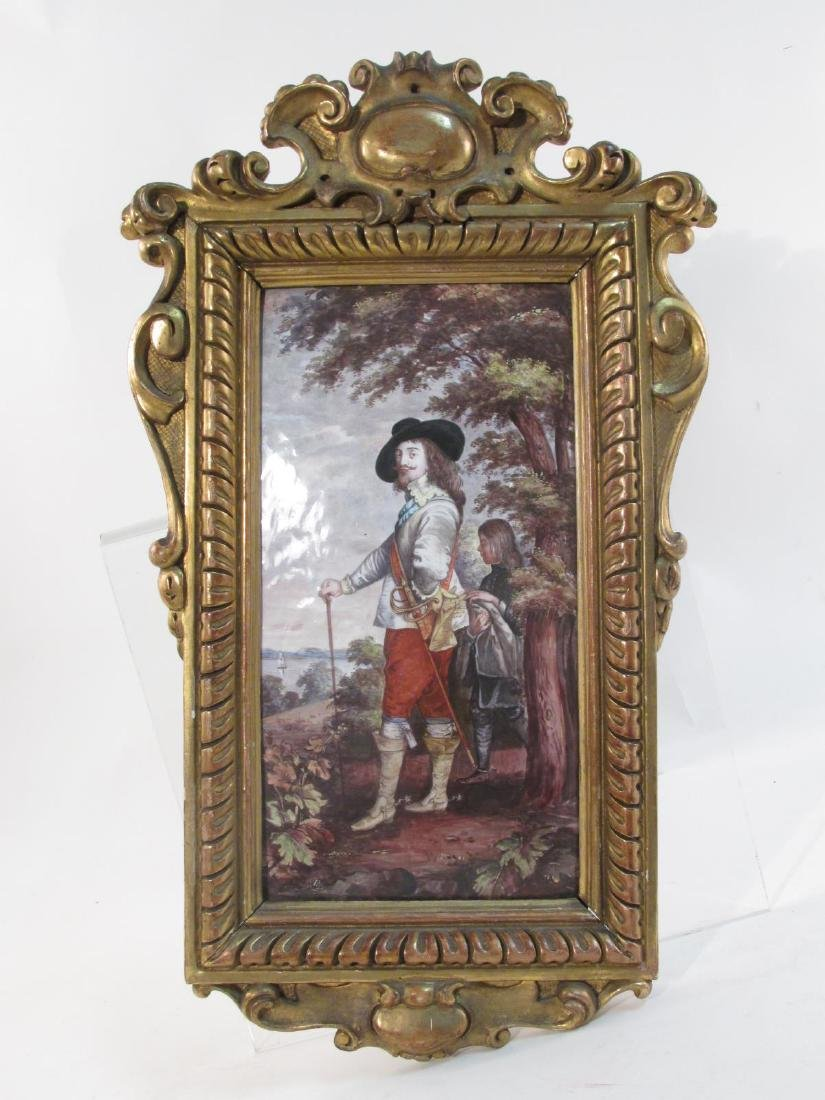 ANTIQUE ENAMEL ON COPPER PAINTING: KING CHARLES I