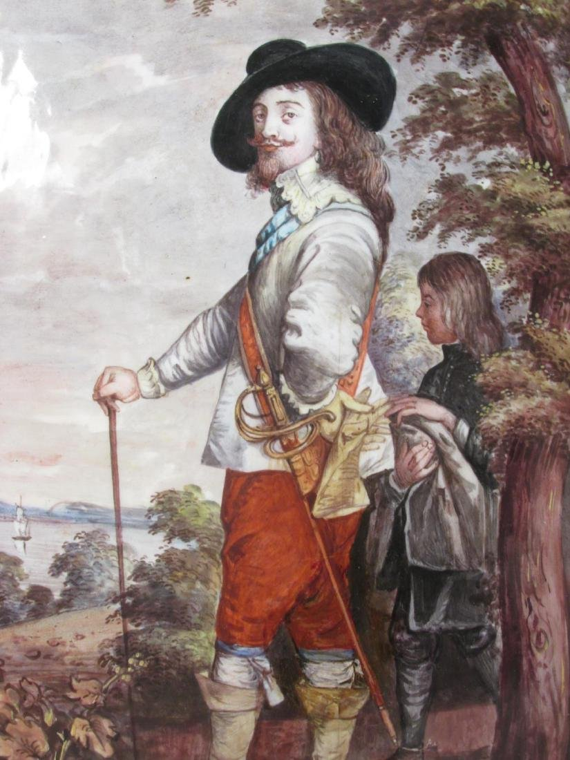 ANTIQUE ENAMEL ON COPPER PAINTING: KING CHARLES I - 2