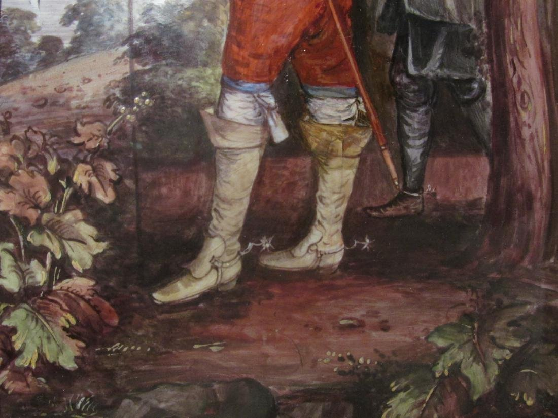 ANTIQUE ENAMEL ON COPPER PAINTING: KING CHARLES I - 6