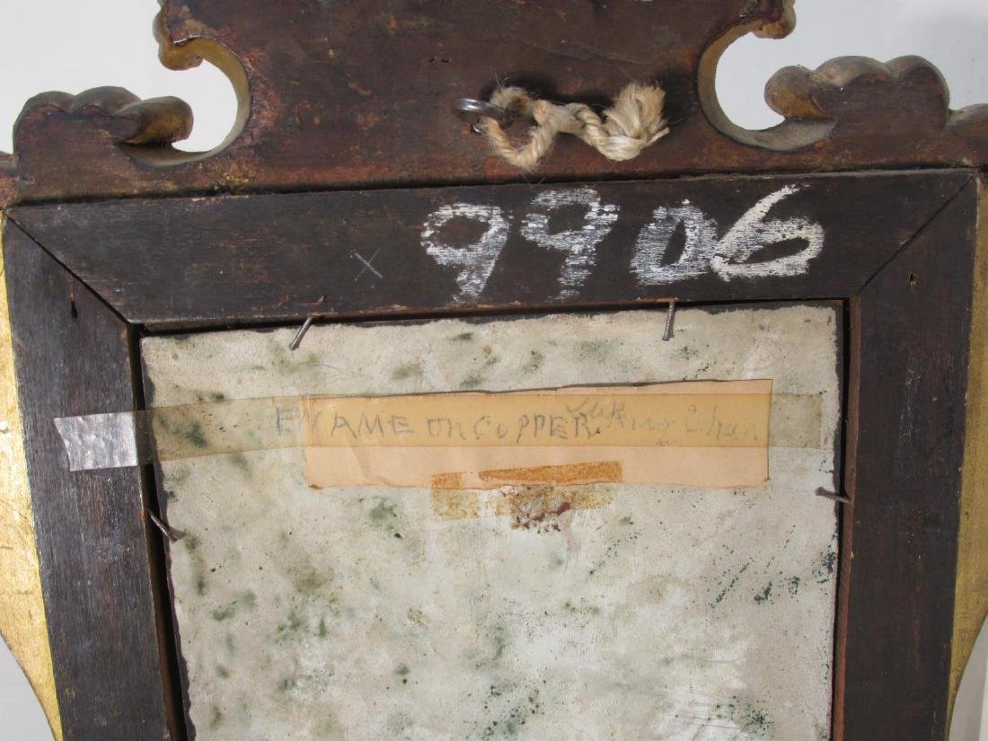 ANTIQUE ENAMEL ON COPPER PAINTING: KING CHARLES I - 8