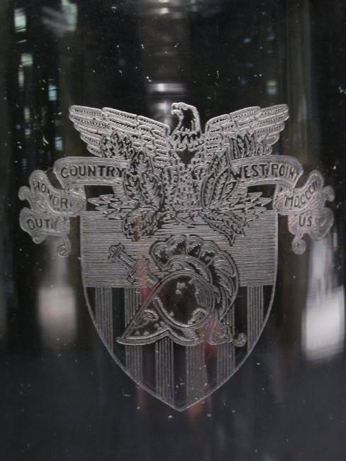 RARE HEISEY WEST POINT USMA GLASS COCKTAIL SHAKER - 5