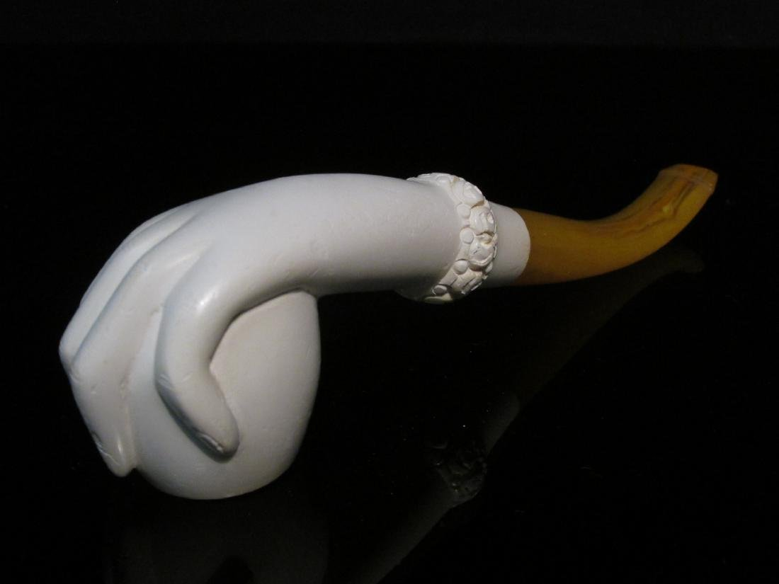 EIGHT VINTAGE CARVED MEERSCHAUM TOBACCO PIPES - 5