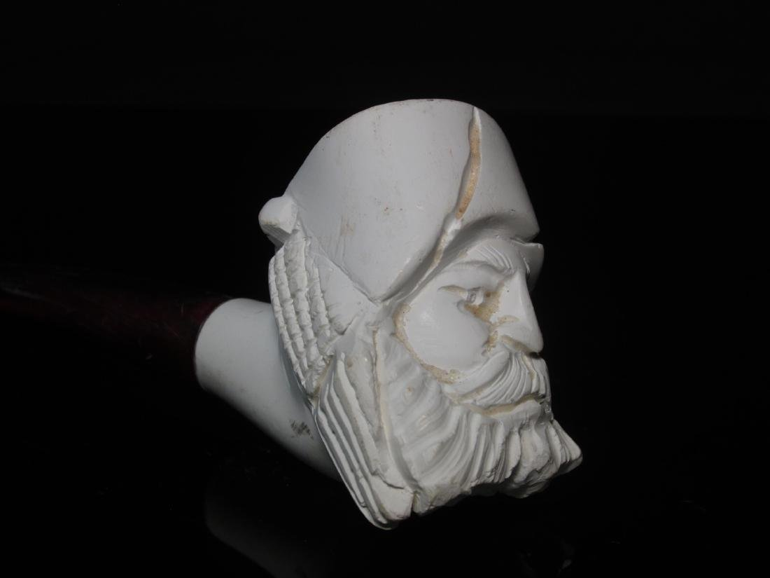 EIGHT VINTAGE CARVED MEERSCHAUM TOBACCO PIPES - 6