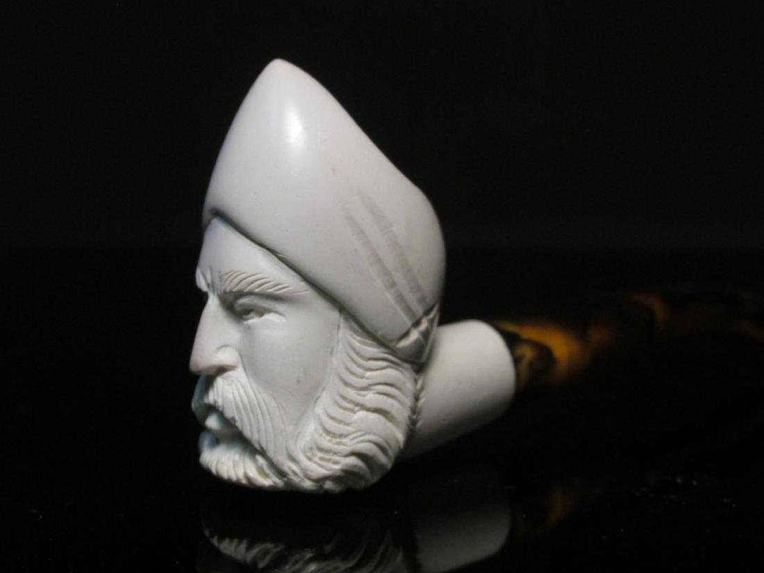 EIGHT VINTAGE CARVED MEERSCHAUM TOBACCO PIPES - 7