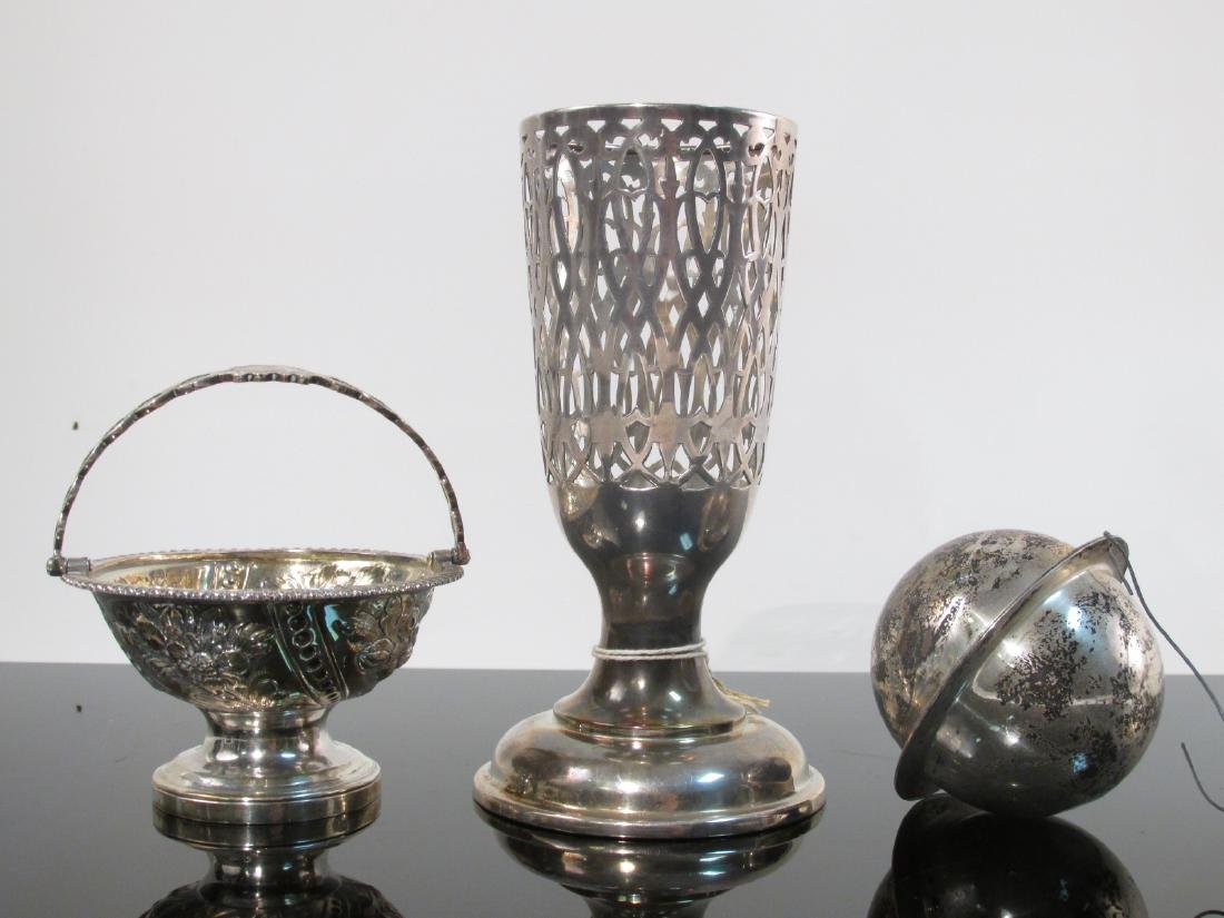 ASSORTED STERLING SILVER TABLEWARES, DESK ACC. ETC - 5