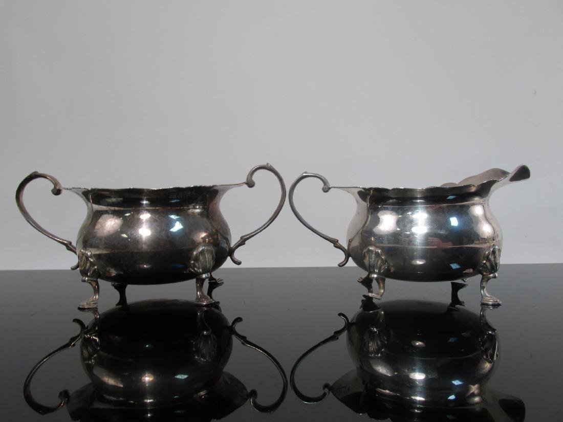 STERLING SILVER & GLASS TABLEWARES: CREAMER ETC. - 4