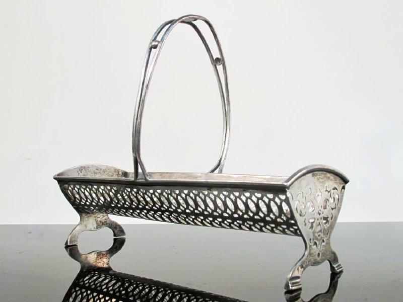 STERLING SILVER & GLASS TABLEWARES: CREAMER ETC. - 8