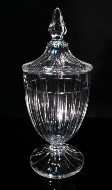 THREE RARE HEISEY GLASS URNS - 7