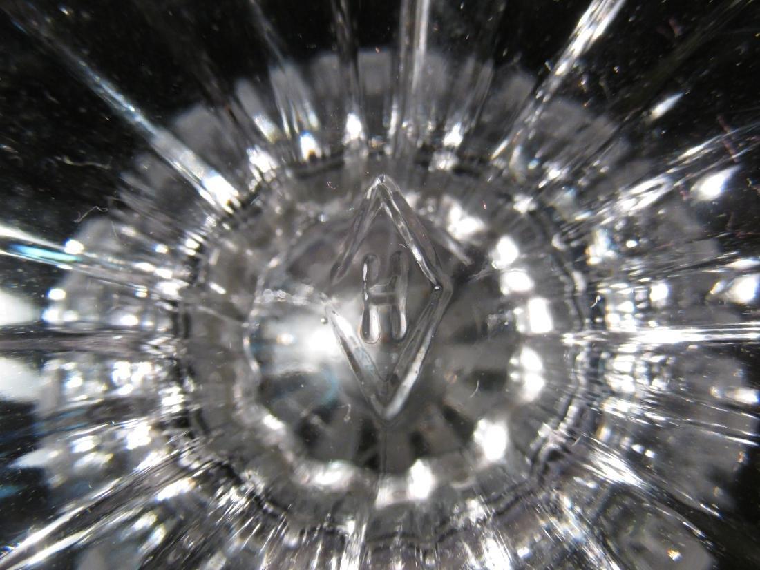 THREE RARE HEISEY GLASS URNS - 8