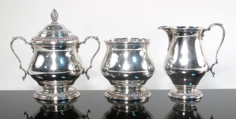 MERIDEN BRITANNIA STERLING SILVER PARTIAL TEA SET