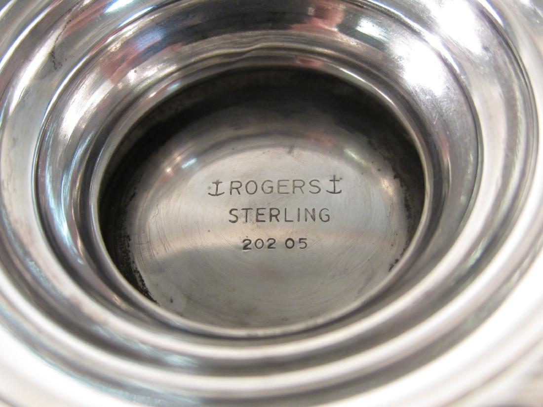 FIVE PIECE ROGERS STERLING SILVER TEA SET 57.8 TRO - 10