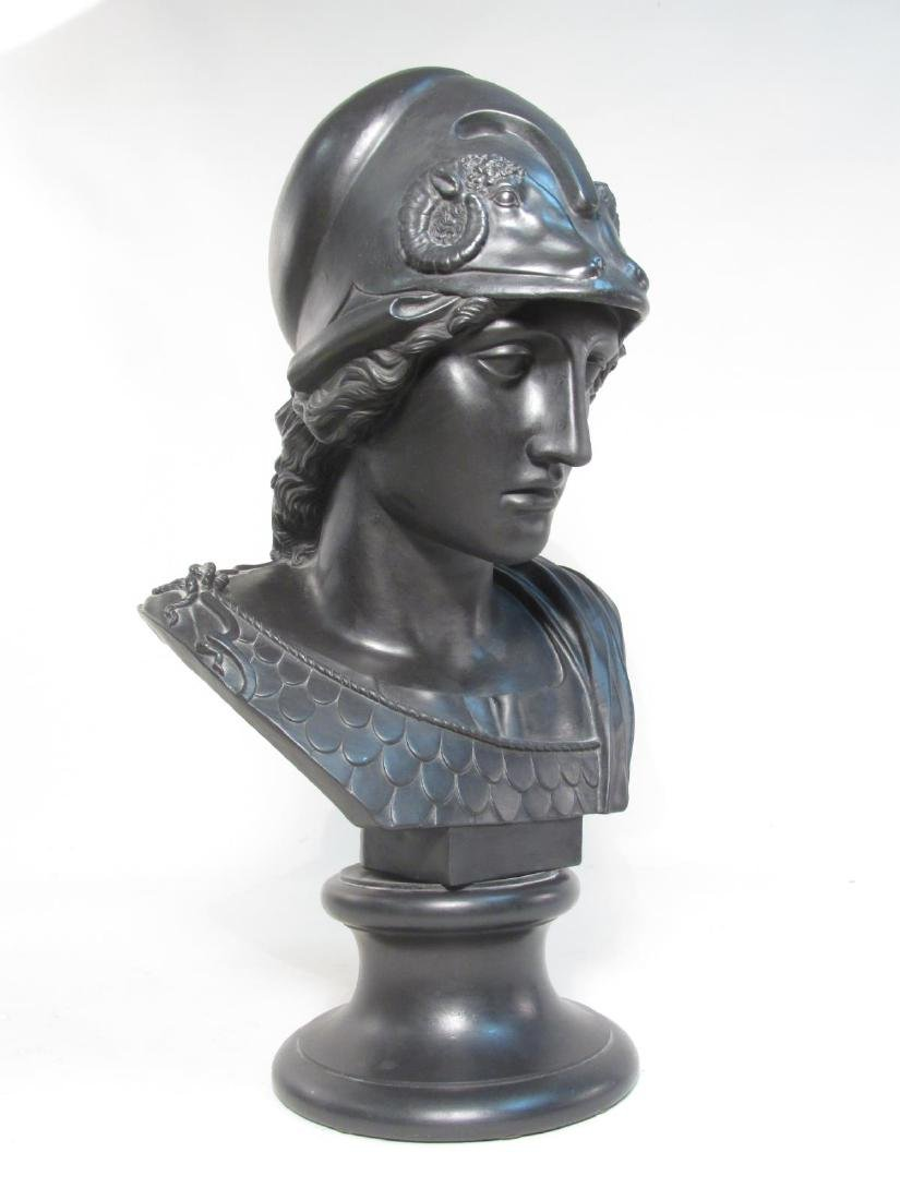 19C WEDGWOOD BLACK BASALT BUST OF MINERVA