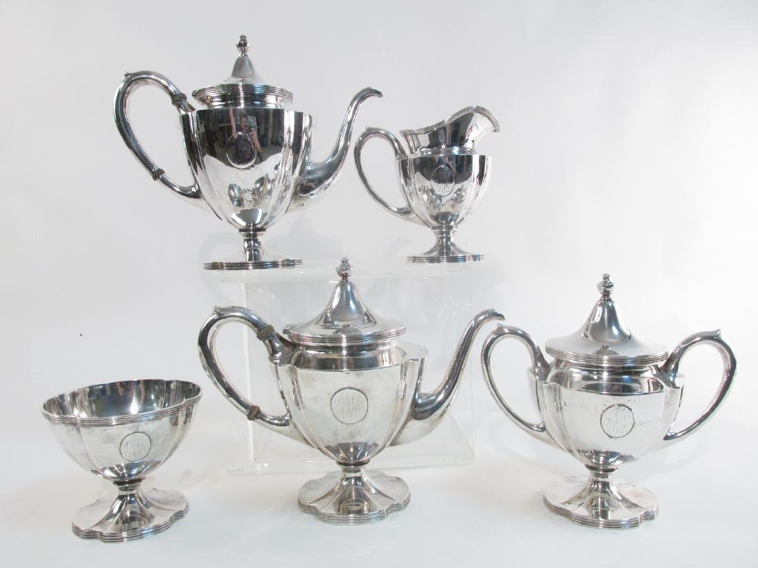 ANTIQUE WILCOX & WAGONER STERLING SILVER TEA SET 5