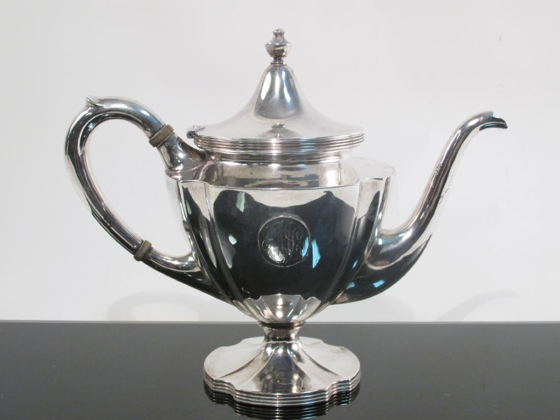 ANTIQUE WILCOX & WAGONER STERLING SILVER TEA SET 5 - 6