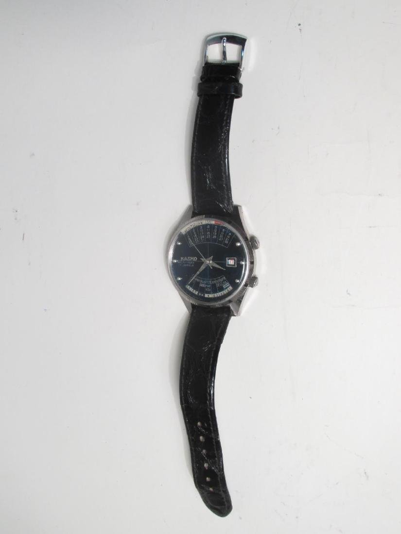VINTAGE KASHO 17-JEWEL MULTI-YEAR WRISTWATCH