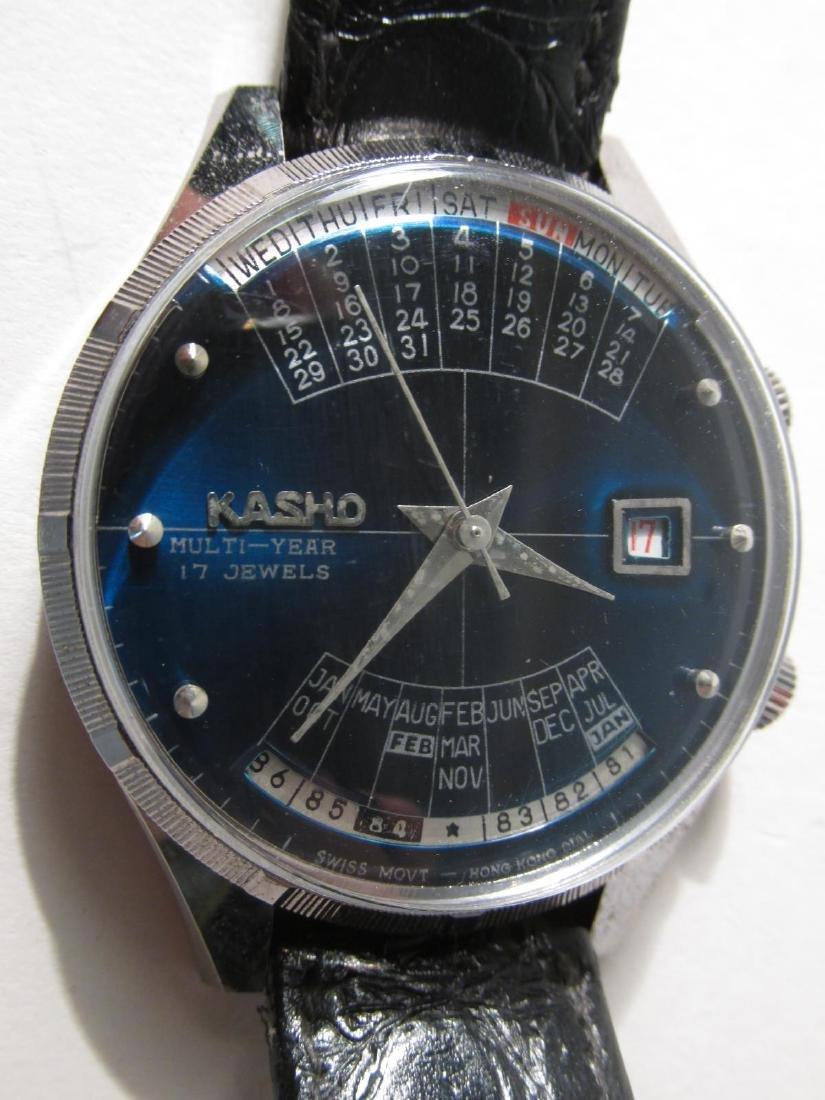 VINTAGE KASHO 17-JEWEL MULTI-YEAR WRISTWATCH - 2