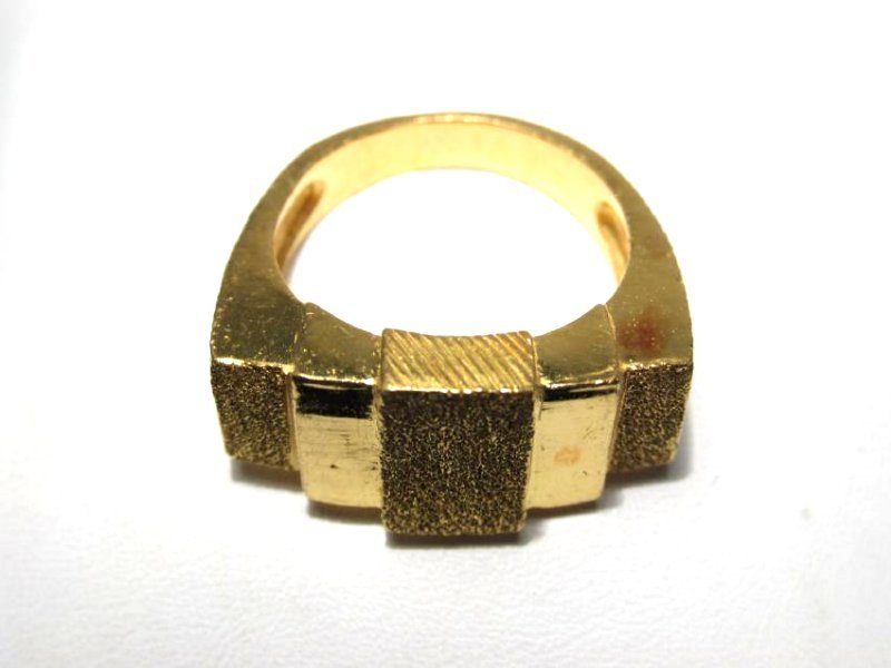 CHINESE .9999 24K GOLD RING SIZE 7.5 - 10.9 GRAMS