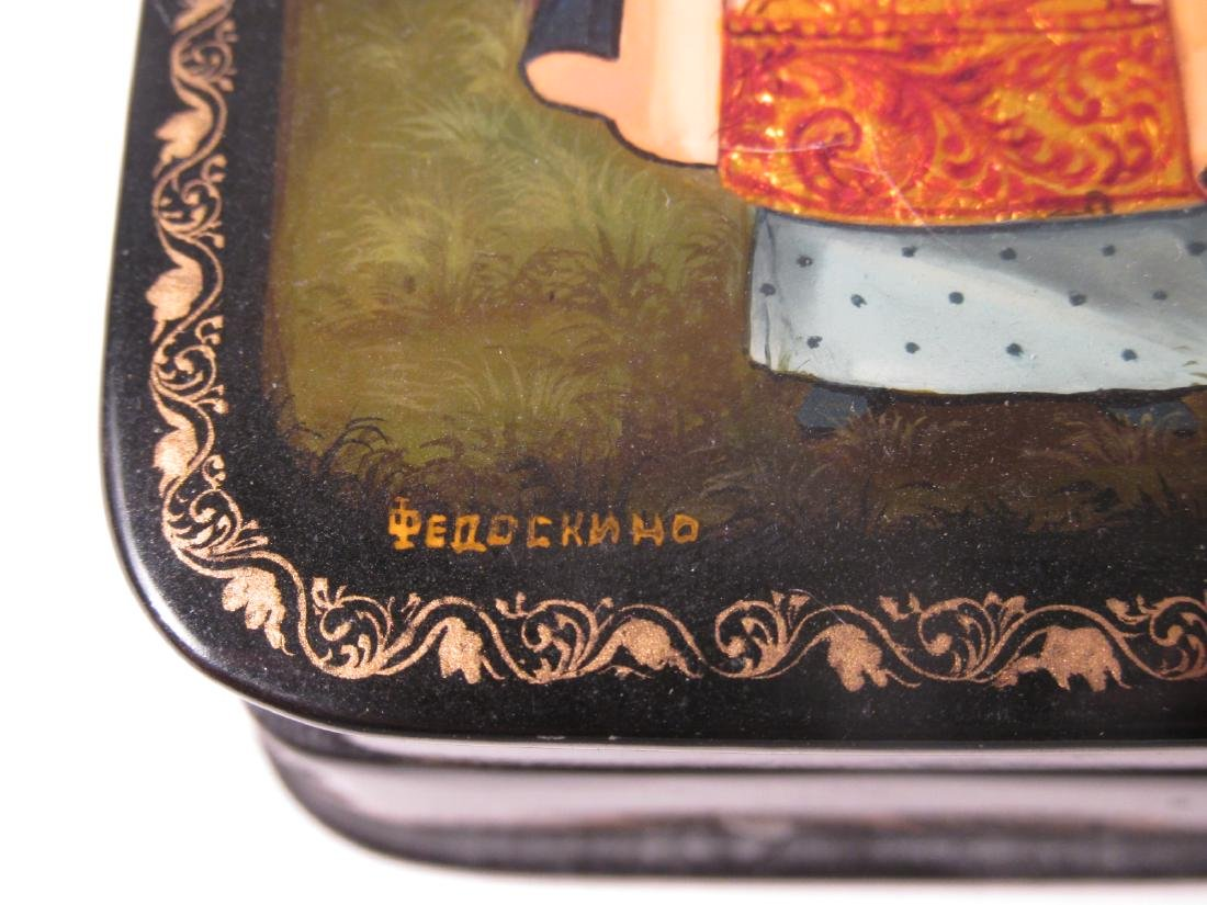 ARTIST SIGNED RUSSIAN LACQUER BOX: SAINT OLGA - 3