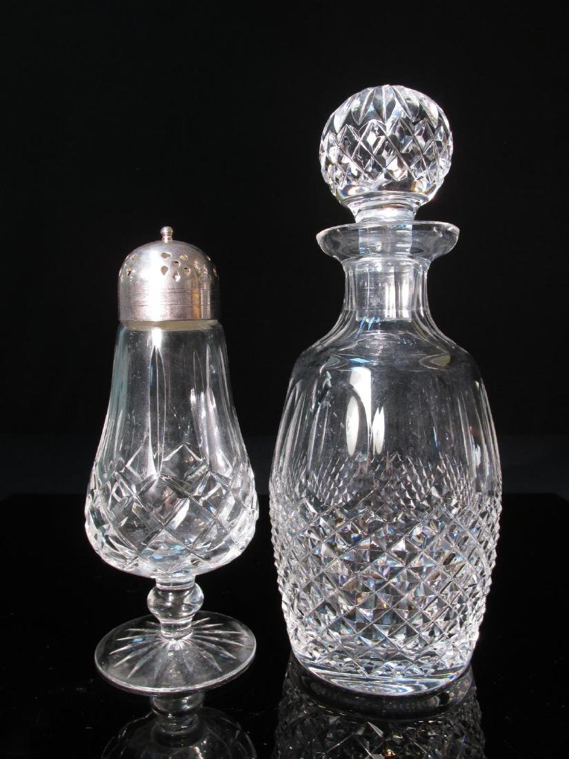 WATERFORD CRYSTAL MUFFINEER & COLLEEN DECANTER