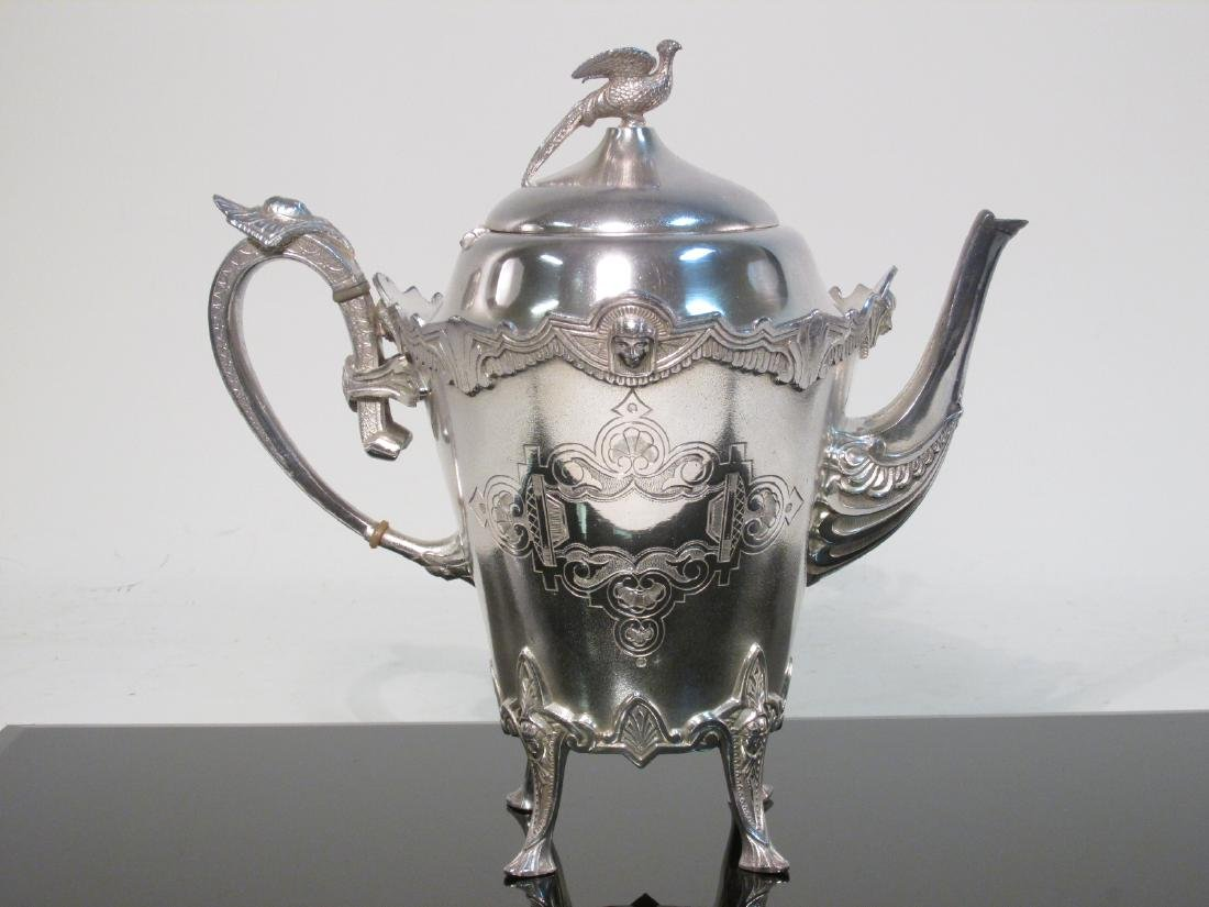 ANTIQUE ROGERS SMITH & CO SILVER PLATED TEAPOT