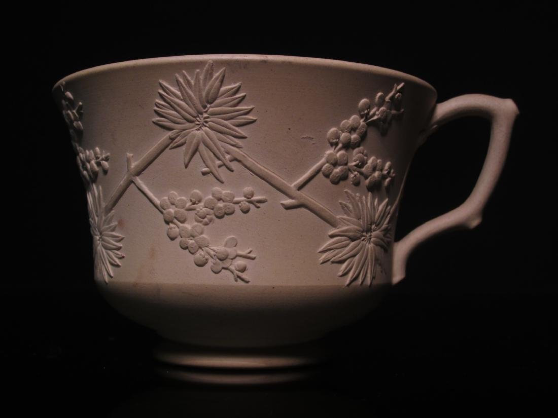 RARE WEDGWOOD CANEWARE CUP & SAUCER - 5