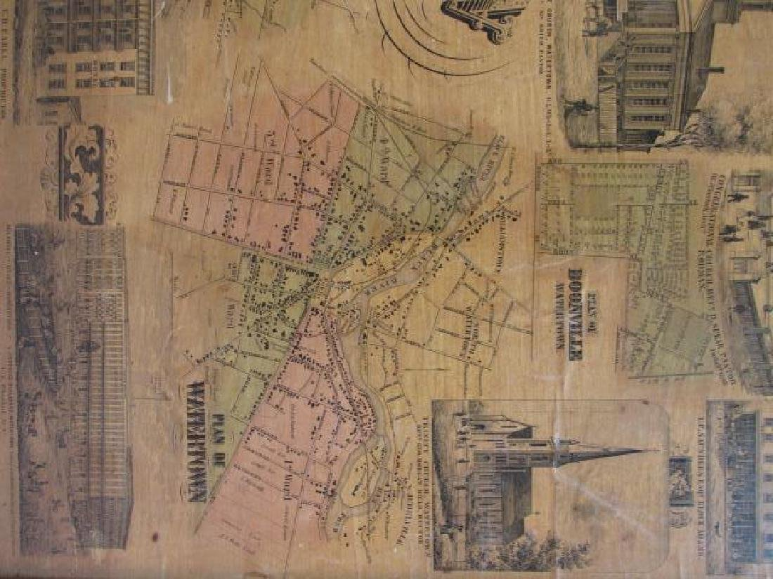 LARGE ANTIQUE HAND COLORED MAP JEFFERSON COUNTY NY - 3