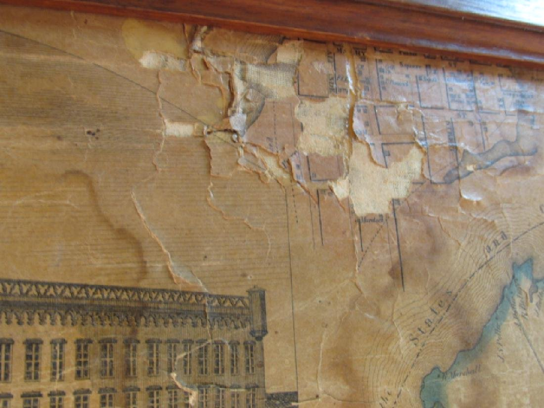 LARGE ANTIQUE HAND COLORED MAP JEFFERSON COUNTY NY - 6
