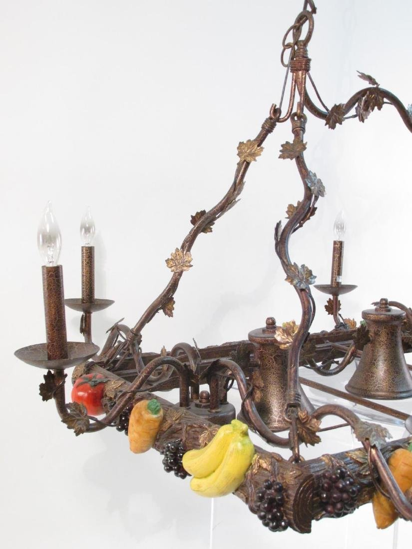HUGE CONTEMPORARY HARVEST STYLE CHANDELIER - 3