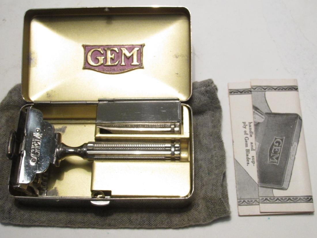FIVE VINTAGE BOXED GEM SINGLE EDGE SAFETY RAZORS - 6