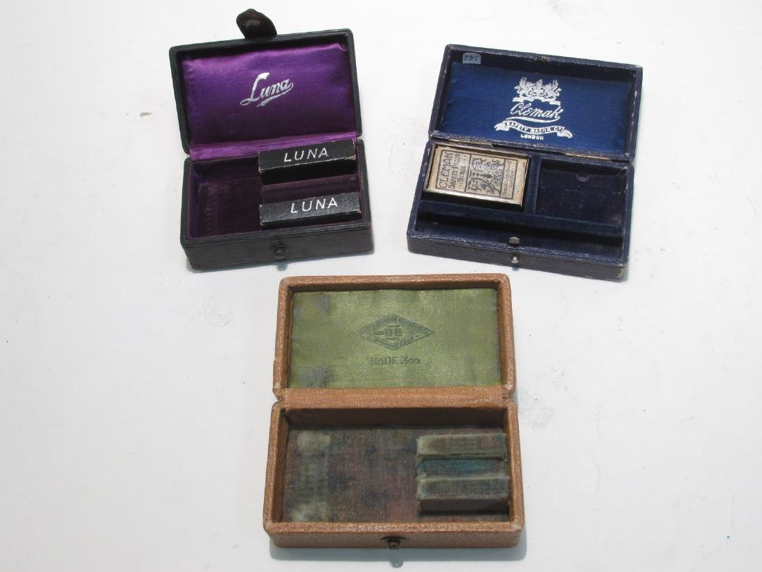 ASSORTED VINTAGE EMPTY SAFETY RAZOR BOXES & TINS - 10
