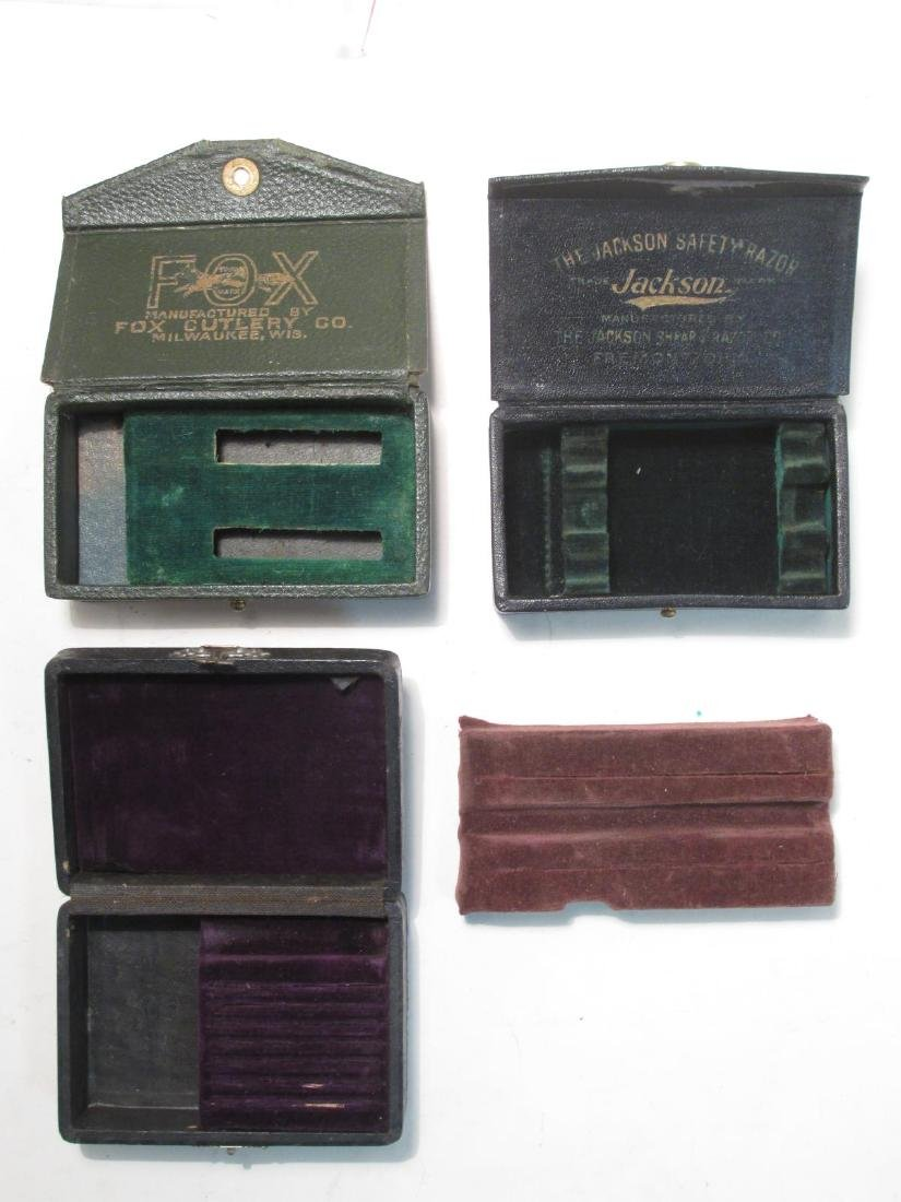 ASSORTED VINTAGE EMPTY SAFETY RAZOR BOXES & TINS - 3