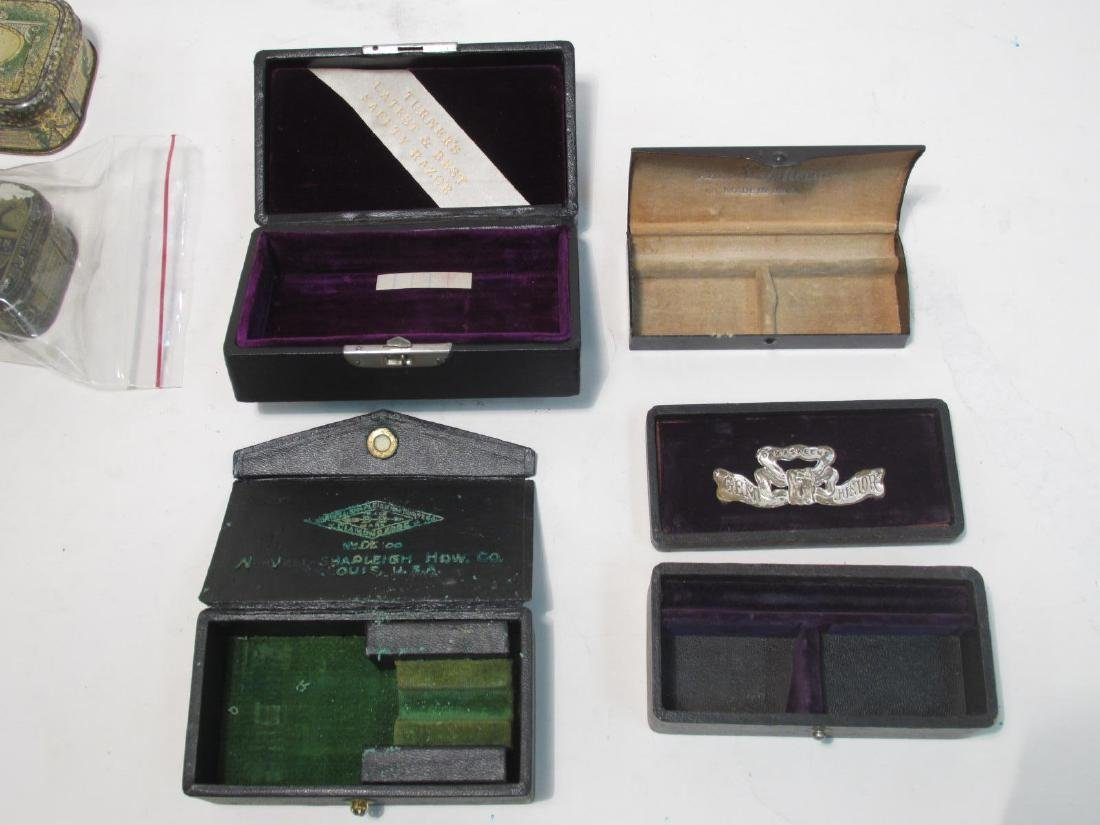 ASSORTED VINTAGE EMPTY SAFETY RAZOR BOXES & TINS - 5
