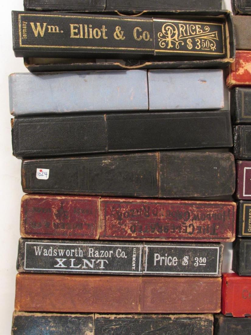 FIFTY+ EMPTY ANTIQUE/VINTAGE STRAIGHT RAZOR BOXES - 3
