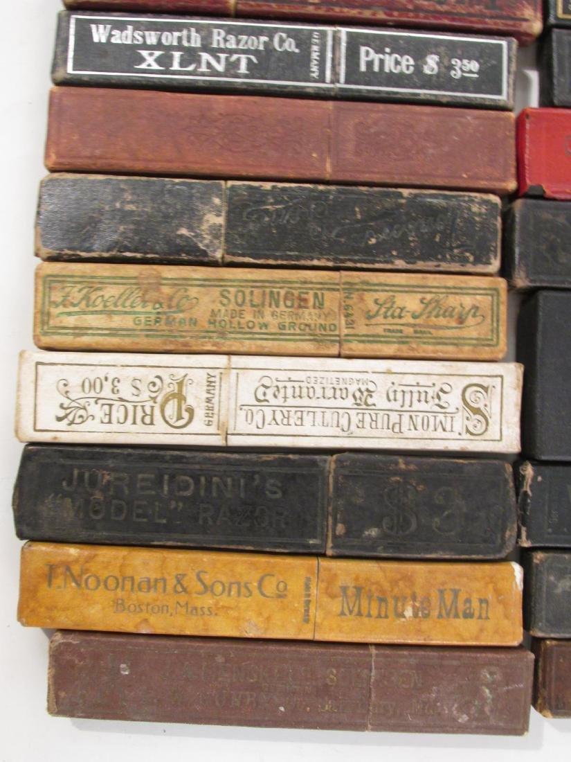 FIFTY+ EMPTY ANTIQUE/VINTAGE STRAIGHT RAZOR BOXES - 4