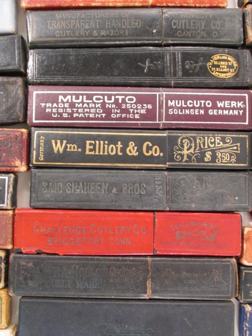FIFTY+ EMPTY ANTIQUE/VINTAGE STRAIGHT RAZOR BOXES - 6