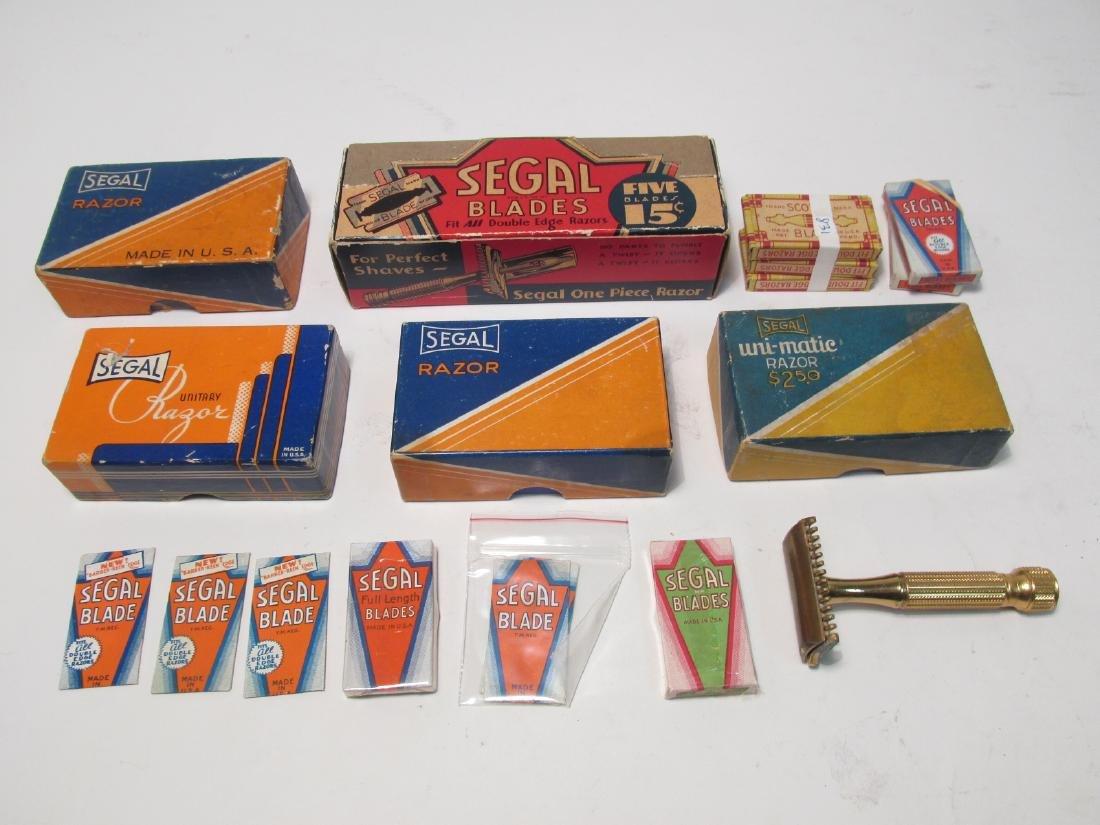 VINTAGE BOXED SEGAL SAFETY RAZORS & BLADES