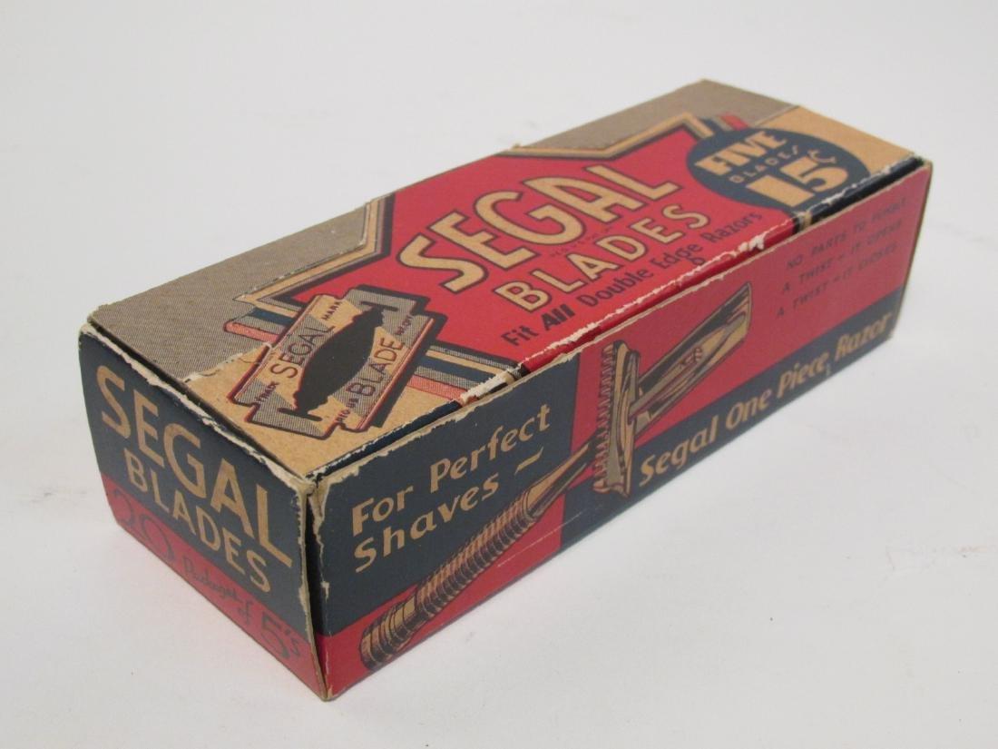 VINTAGE BOXED SEGAL SAFETY RAZORS & BLADES - 5