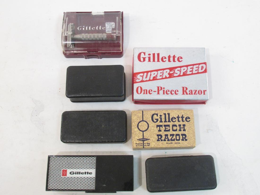 SEVEN VINTAGE GILLETTE DE SAFETY RAZORS - 2