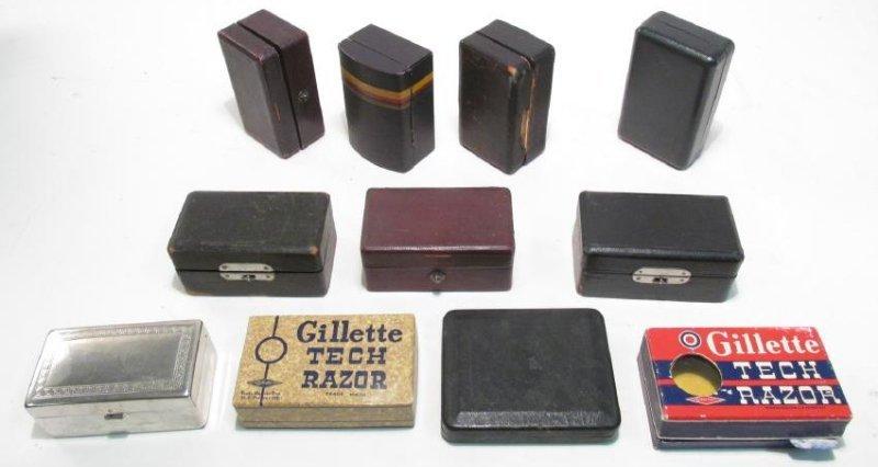 ELEVEN VINTAGE GILLETTE SAFETY RAZOR BOXES