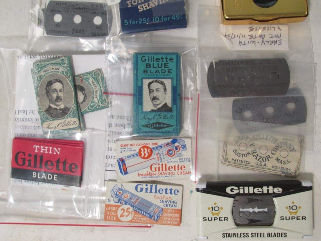 COLLECTION VINTAGE SAFETY RAZOR BLADES VALET SMITH - 2
